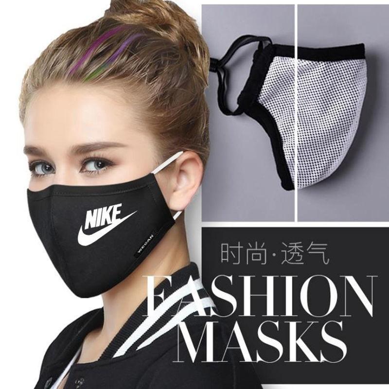 Adidas Nike Puma Sport New Balance Brand Cotton Masks Cloth Fashion Famous Mask High Quality Protective Coverings