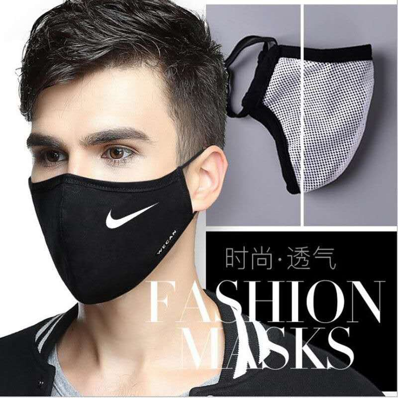 Brand Luxury Nike Puma NB Sport Breathable Masks Cool Washable Reusable Face Facial Teens Adults Mask Black Facemasks