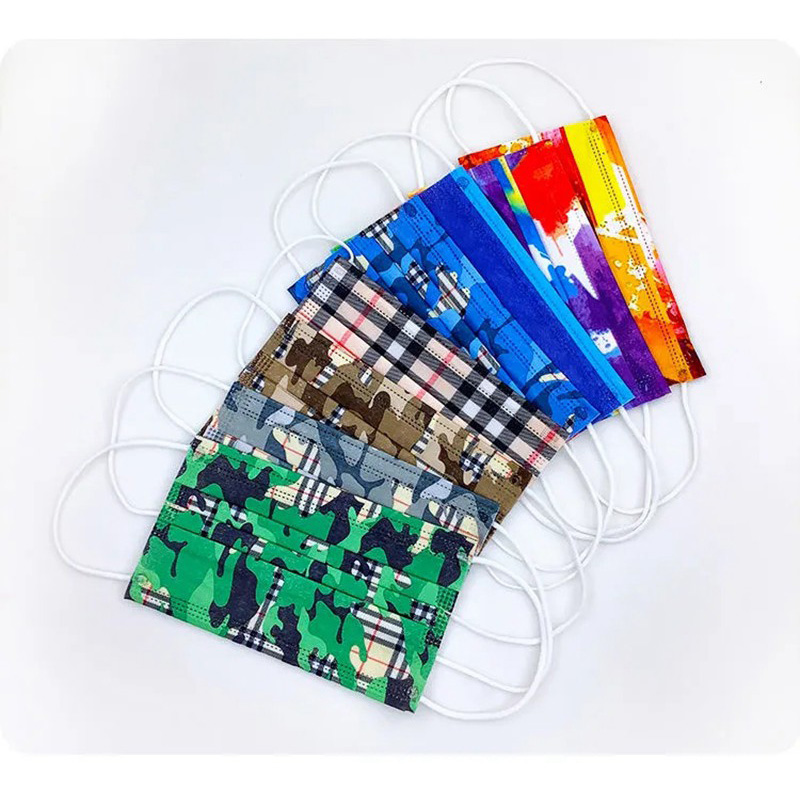 Burberry Camouflage Grid Disposable Facecover