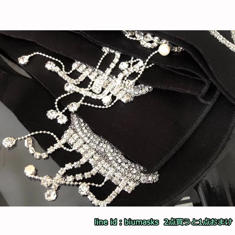 Brand Luxury Chanel Gucci LV Dior Burberry Jewelry Rhinestone Cloth Masks