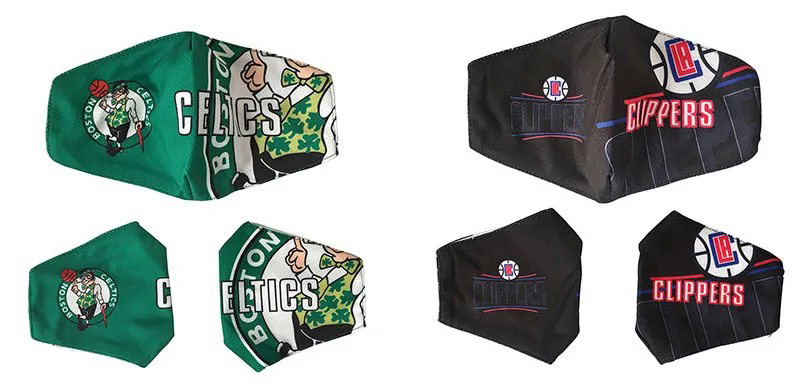NBA Brand Cloth Cotton Washable Reusable Breathable Facial Face Mask