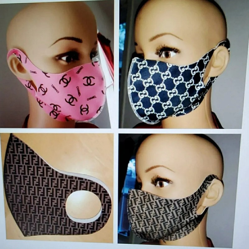 luxury brand trendy face masks covid