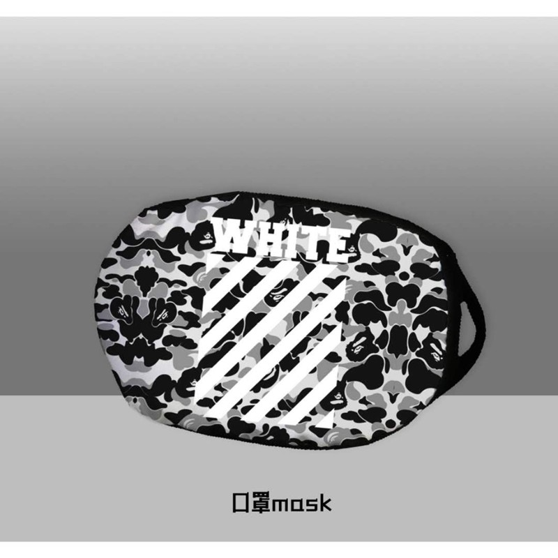 Off White Brand Camouflage Masks Black Emotions Reusable cover