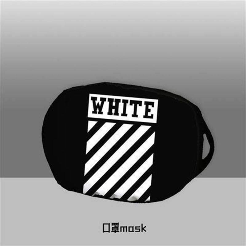 Supreme Brand White Washable Lightning Cotton Face masks